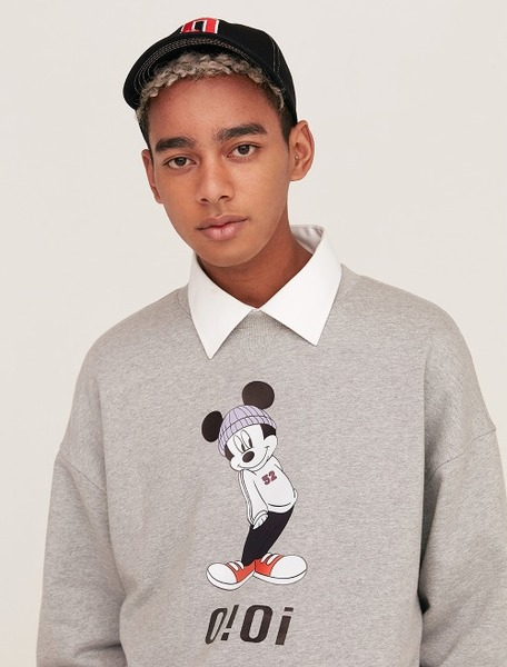 韓国ブランド「5252 by oioi」のSWEATSHIRTS / T-SHIRTS MICKEY MOUSE_grey