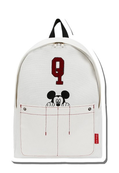 韓国ブランド「5252 by oioi」のQ LOGO OXFORD BACKPACK_ivory