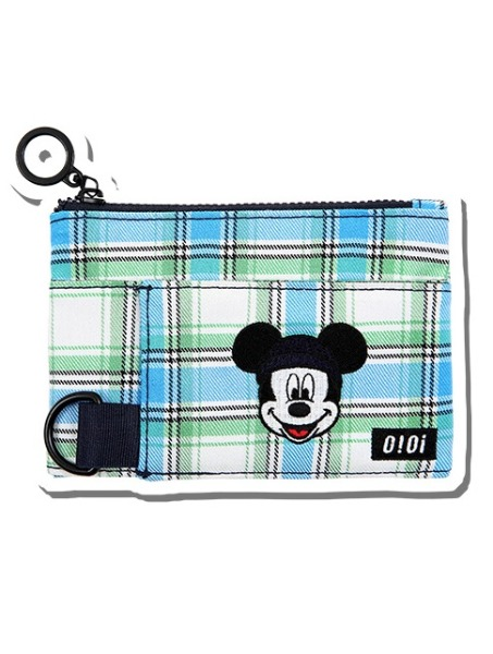 韓国ブランド「5252 by oioi」のPATTERN COIN WALLET /MICKEY MOUSE_blue check