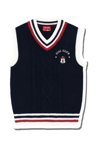 韓国ブランド「5252 by oioi」のSCHOOL KNIT VEST_navy
