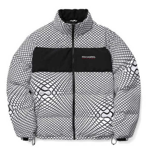 韓国ブランド「mahagrid」のHEAVY SOLARBALL PUFFER JACKET[WHITE]
