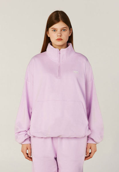 韓国ブランド「CLOTTY」のSET UP HALF-ZIPUP SWEAT-SHIRT[PURPLE]