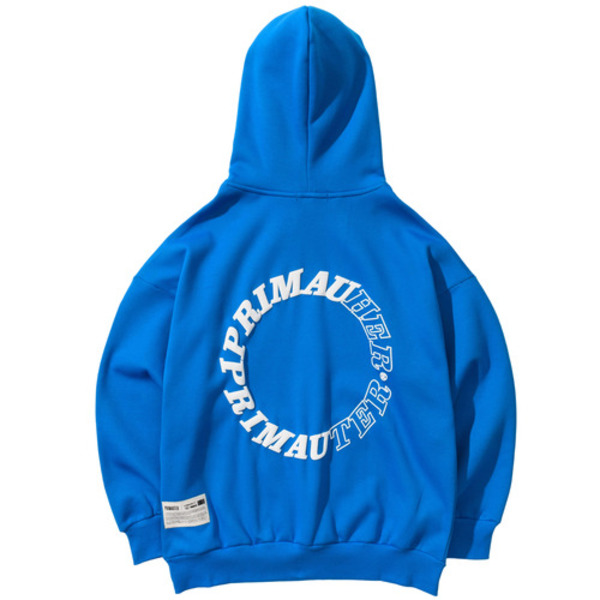 韓国ブランド「PRIMAUTER」のROUND HERTER HOODED (Blue)