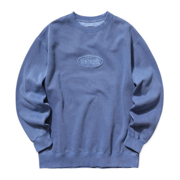 韓国ブランド「mahagrid」のOVERDYED SWEATSHIRT[NAVY]