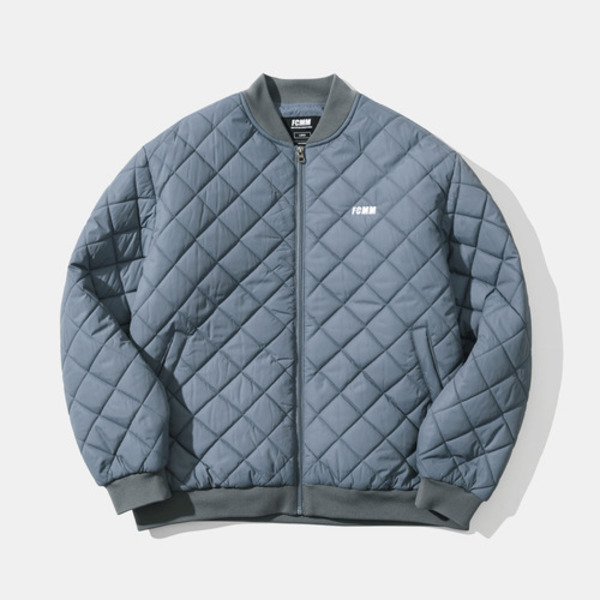 韓国ブランド「FCMM」のQUILTING BOMBER JACKET - BLUE GRAY