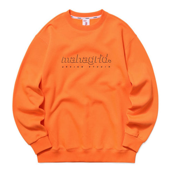 韓国ブランド「mahagrid」のSHADOW LOGO SWEATSHIRT[ORANGE]