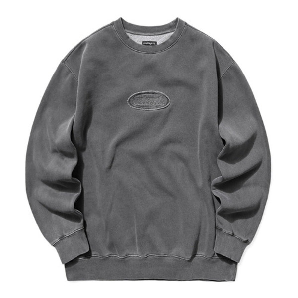 韓国ブランド「mahagrid」のOVERDYED SWEATSHIRT[CHARCOAL]