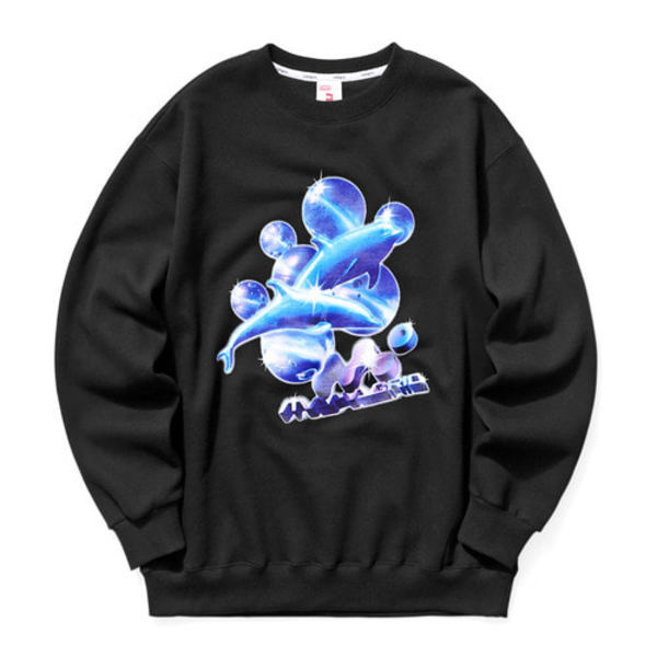 韓国ブランド「mahagrid」のDOLPHIN SWEATSHIRT[BLACK]