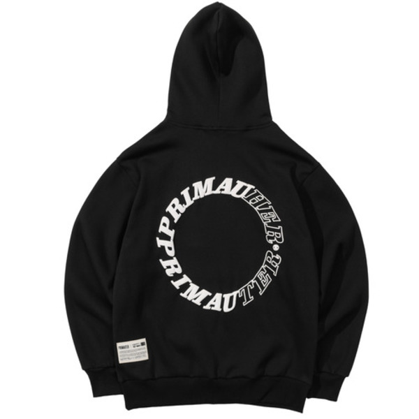 韓国ブランド「PRIMAUTER」のROUND HERTER HOODED (Black)