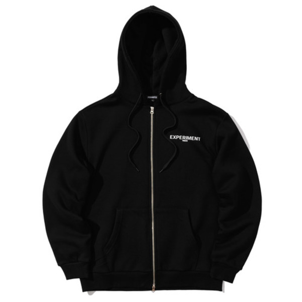 韓国ブランド「PRIMAUTER」のROUND HERTER 2WAY HOODED ZIP (Black)