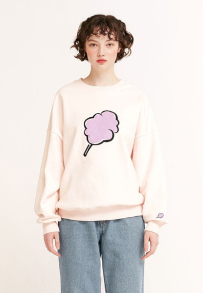 韓国ブランド「CLOTTY」の【SATURDAY ハヌルさん着用】BIG CC SWEAT-SHIRT[BABY PINK]