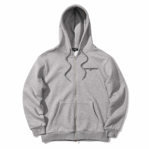 韓国ブランド「PRIMAUTER」のROUND HERTER 2WAY HOODED ZIP (Grey)
