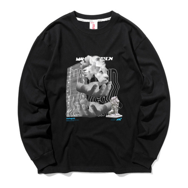韓国ブランド「mahagrid」のBIG BROTHER LS TEE[BLACK]