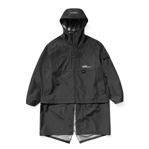 韓国ブランド「mahagrid」の3-LAYER OVERSIZED TRANSFORM WINDBREAKER[BLACK]