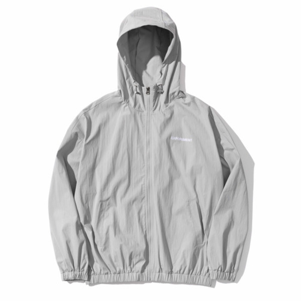 韓国ブランド「PRIMAUTER」のPM RESEARCH WINDBREAKER (Grey)