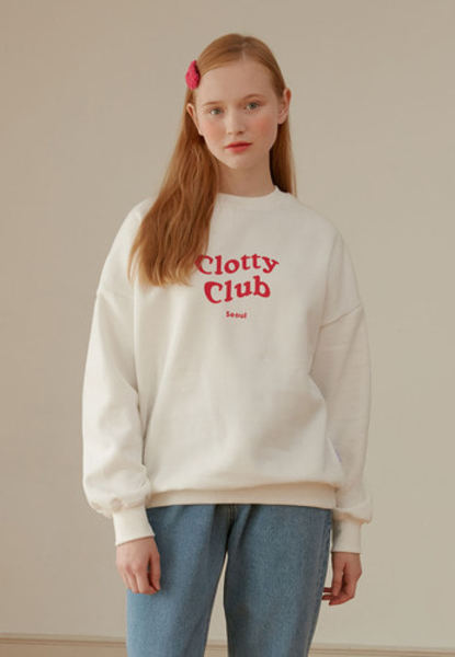 韓国ブランド「CLOTTY」のCLOTTY CLUB SWEAT-SHIRT[WHITE]