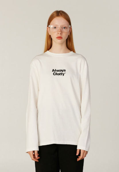 韓国ブランド「CLOTTY」のALWAYS CLOTTY LONG SLEEVE[WHITE]