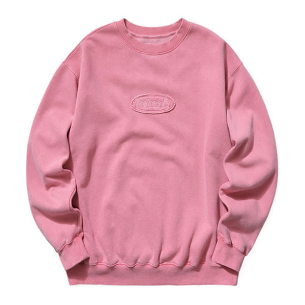 韓国ブランド「mahagrid」のOVERDYED SWEATSHIRT[PINK]