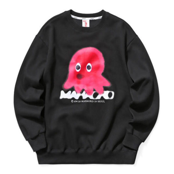 韓国ブランド「mahagrid」のOCTOPUS SWEATSHIRT[BLACK]