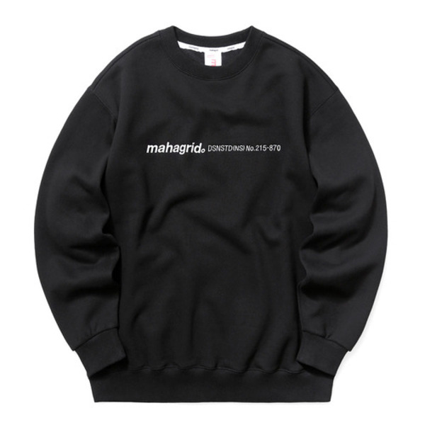 韓国ブランド「mahagrid」のLOGO EMB SWEATSHIRT[BLACK]