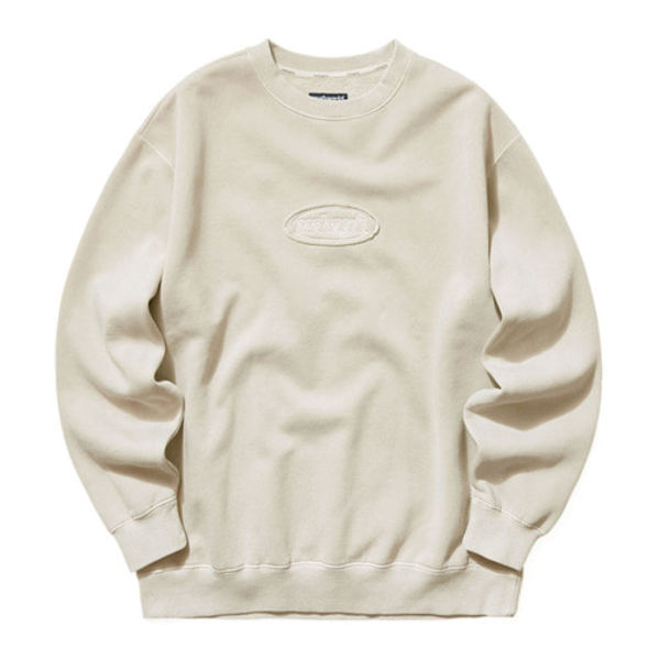 韓国ブランド「mahagrid」のOVERDYED SWEATSHIRT[BEIGE]