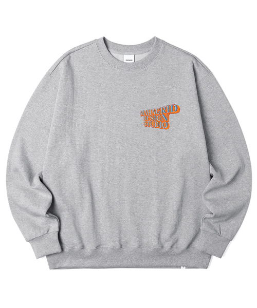 韓国ブランド「mahagrid」のSOLID LOGO SWEATSHIRT[GREY]
