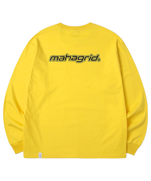 韓国ブランド「mahagrid」のMECHANIC LOGO LS TEE[YELLOW]