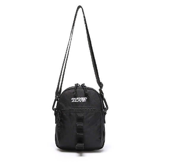 韓国ブランド「UNIONOBJET」の[BA X UNION] GRID CROSS BAG BLACK