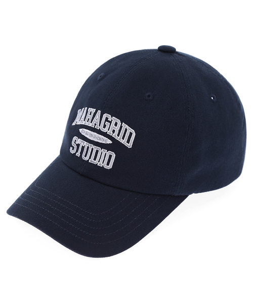韓国ブランド「mahagrid」のCOLLEGE LOGO BALL CAP[NAVY]