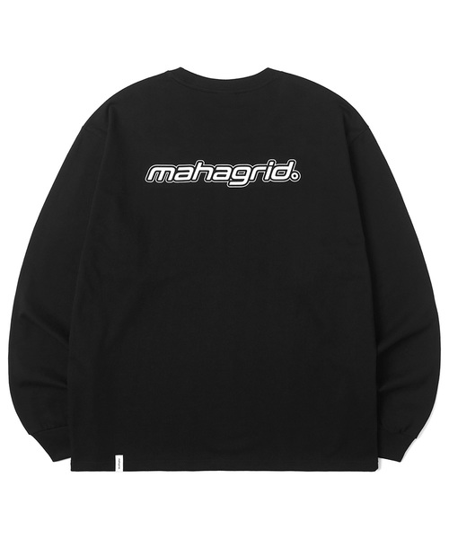 韓国ブランド「mahagrid」のMECHANIC LOGO LS TEE[BLACK]