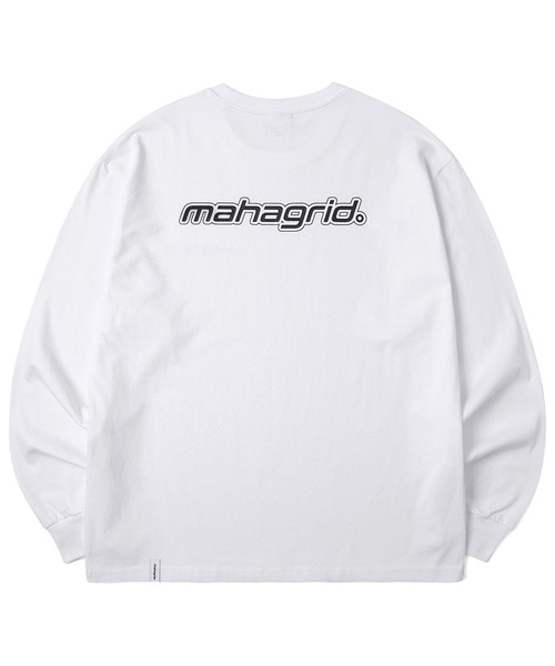 韓国ブランド「mahagrid」のMECHANIC LOGO LS TEE[WHITE]