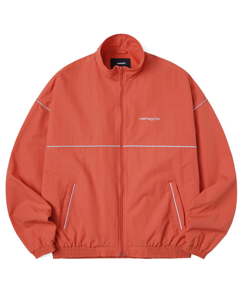 韓国ブランド「mahagrid」のREFLECTIVE TRACK JACKET[ORANGE]