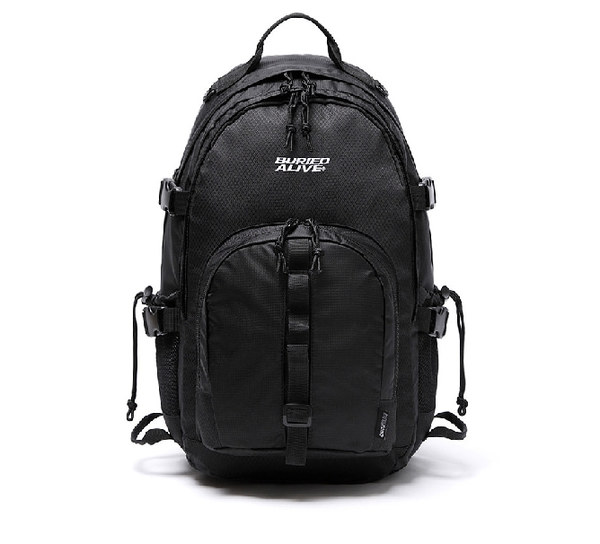 韓国ブランド「UNIONOBJET」の[BA X UNION] GRID BACKPACK BLACK