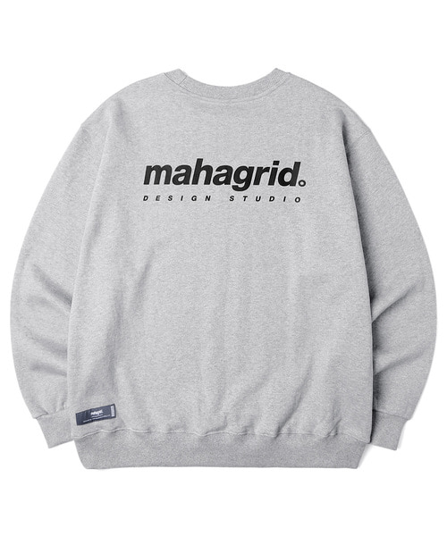 韓国ブランド「mahagrid」のORIGIN LOGO CREWNECK[GREY]