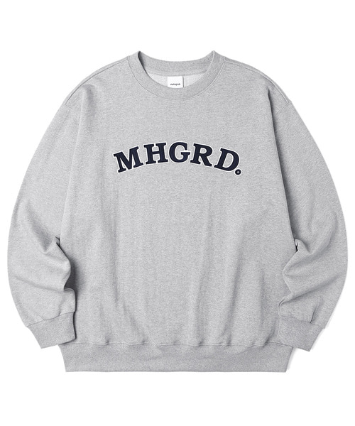 韓国ブランド「mahagrid」のARC LOGO SWEATSHIRT[GREY]