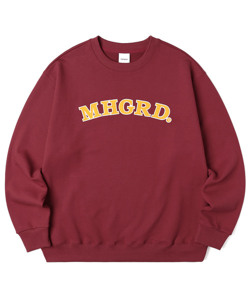 韓国ブランド「mahagrid」のARC LOGO SWEATSHIRT[RED]
