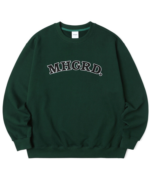 韓国ブランド「mahagrid」のARC LOGO SWEATSHIRT[GREEN]