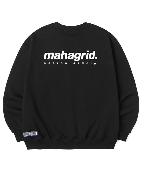 韓国ブランド「mahagrid」のORIGIN LOGO CREWNECK[BLACK]
