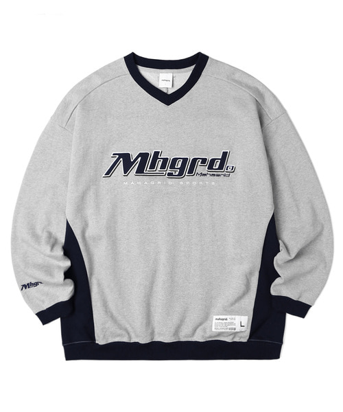 韓国ブランド「mahagrid」のSPORTS TEAM SWEATSHIRT[GREY]