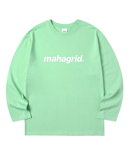 韓国ブランド「mahagrid」のBASIC LOGO LS TEE[GREEN]