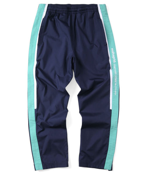 韓国ブランド「mahagrid」のSIDELINE FULL ZIP WARM UP PANT[NAVY]