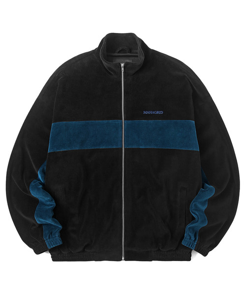韓国ブランド「mahagrid」のVELOUR TRACK JACKET[BLACK]