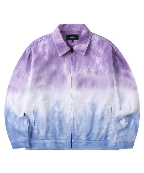 韓国ブランド「mahagrid」のDYED ZIP UP JACKET[BLUE]