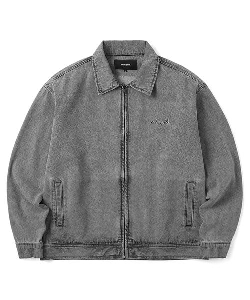 韓国ブランド「mahagrid」のWASHED ZIP UP JACKET[GREY]