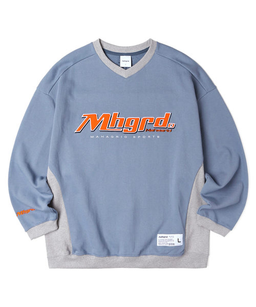 韓国ブランド「mahagrid」のSPORTS TEAM SWEATSHIRT[BLUE]