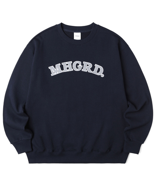 韓国ブランド「mahagrid」のARC LOGO SWEATSHIRT[NAVY]