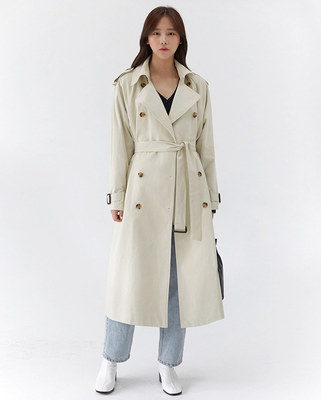 韓国ブランド「AIN」のalfred trench burberry coat