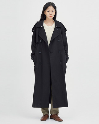韓国ブランド「AIN」のbuckle double trench coat