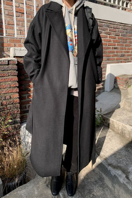 韓国ブランド「moaoL」のrobe calm long coat (2colors)