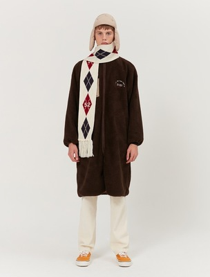 韓国ブランド「5252 by oioi」のLONG FLEECE JACKET_brown